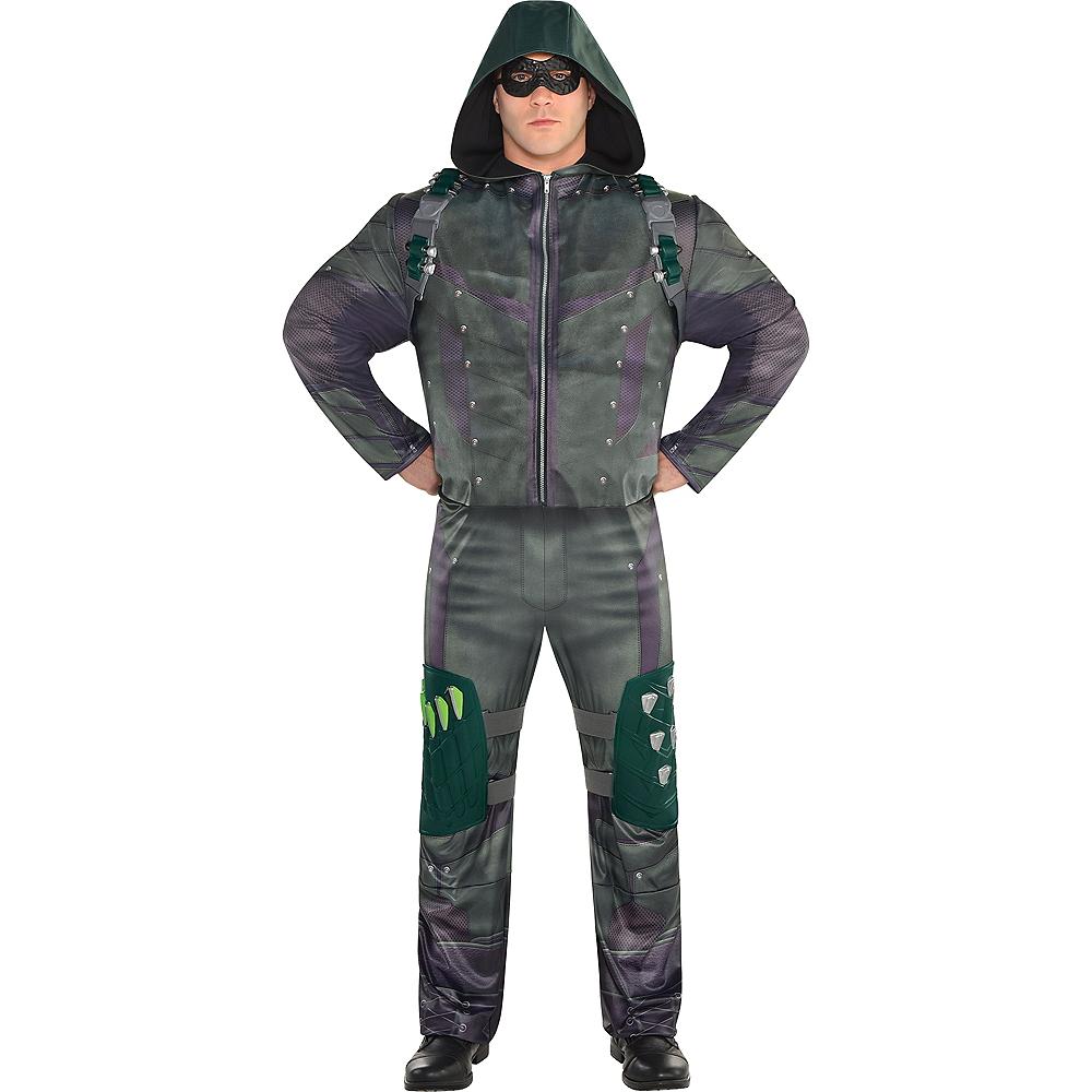 Mens Green Arrow Costume Plus Size Image #1