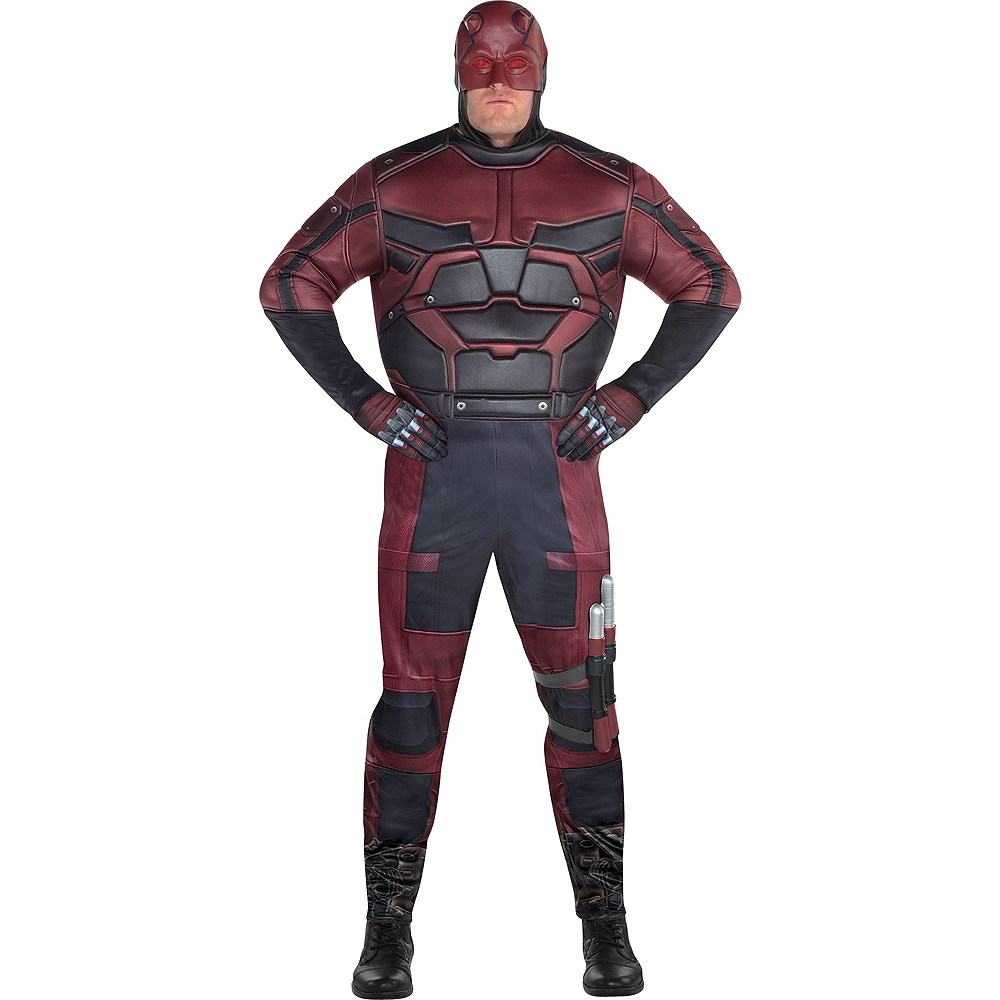 Mens Daredevil Costume Plus Size Image #1