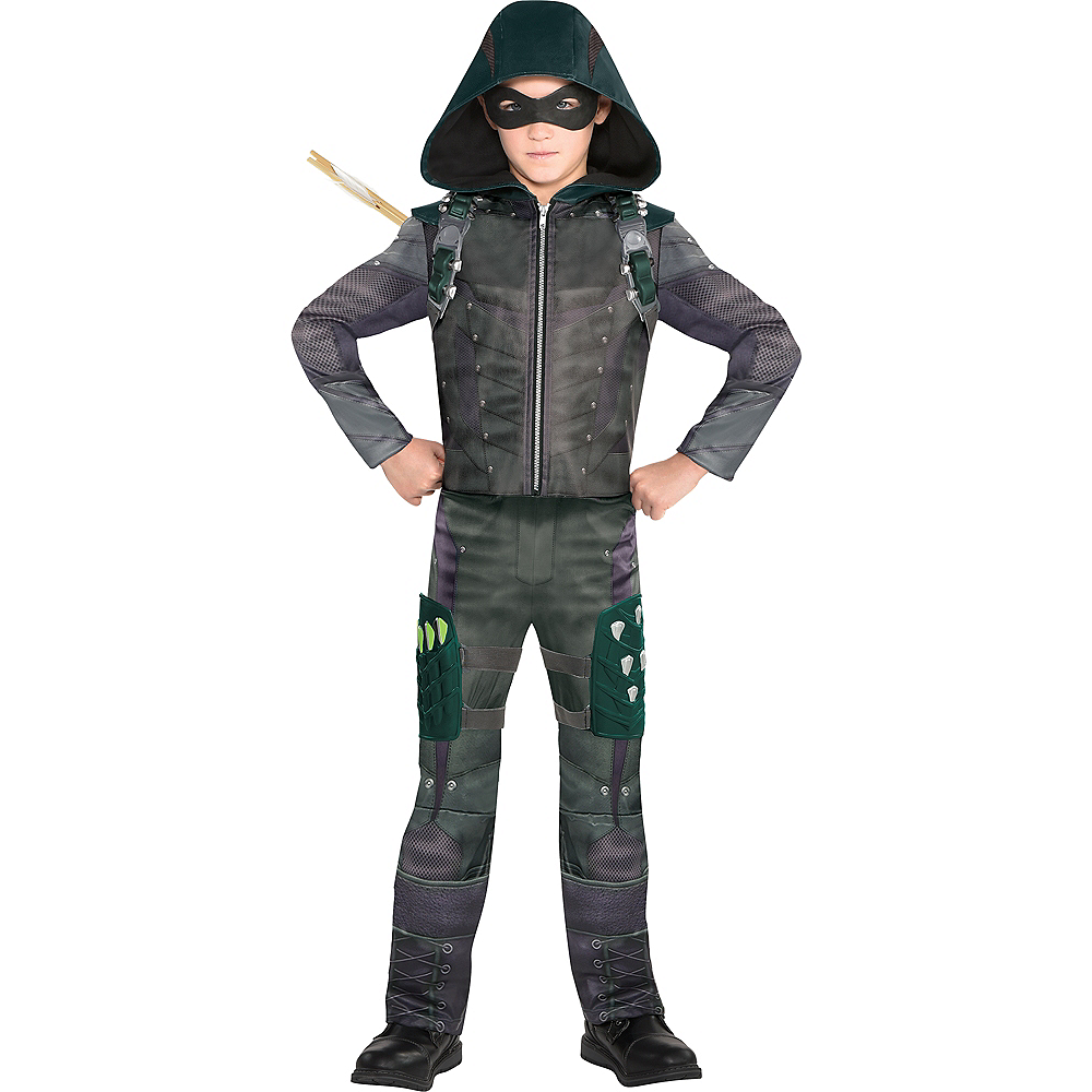 Nav Item for Boys Green Arrow Costume Image #1