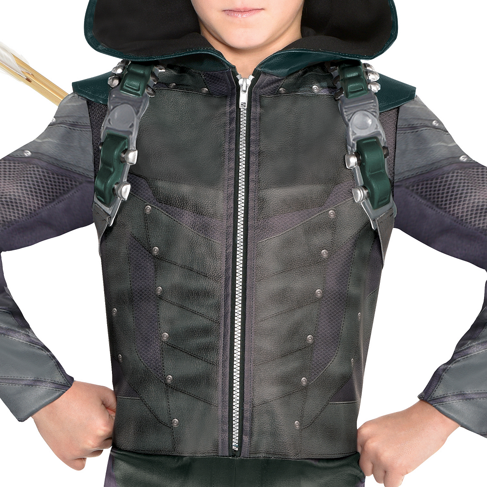 Boys Green Arrow Costume Image #3