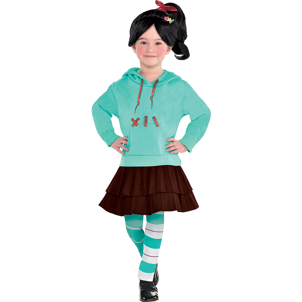 Nav Item for Girls Vanellope Costume - Wreck-It Ralph 2 Image #1