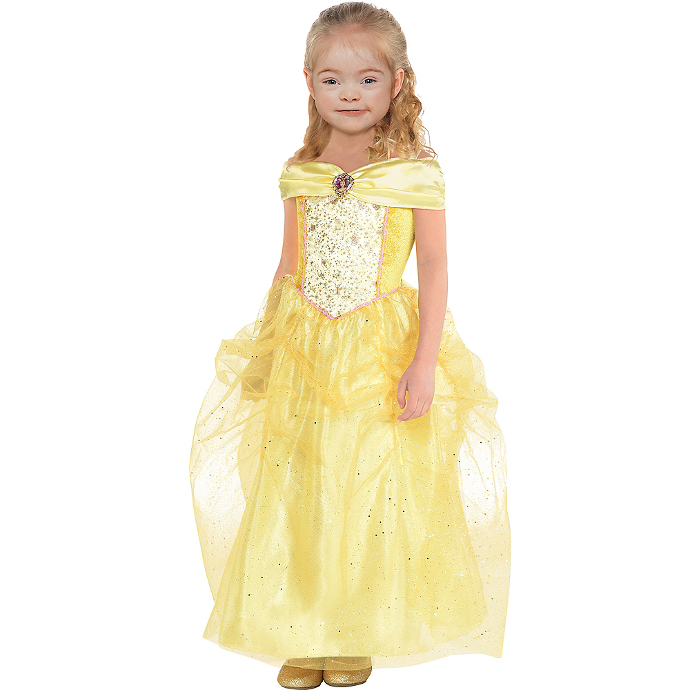 Girls Classic Belle Costume - Beauty and the Beast Image #1