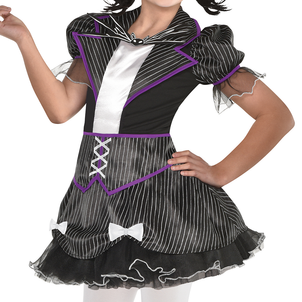 girls jack skellington costume the nightmare before christmas image 3