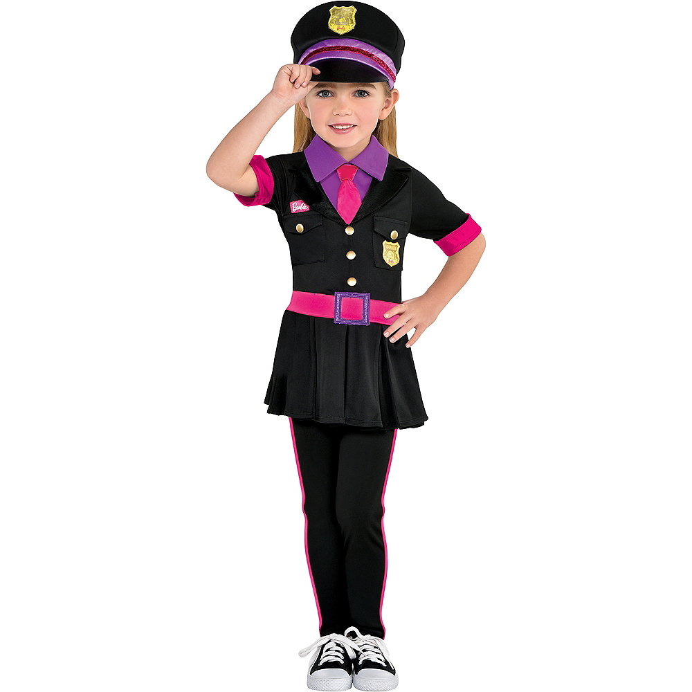 b13eeef948f Girls Police Officer Barbie Costume