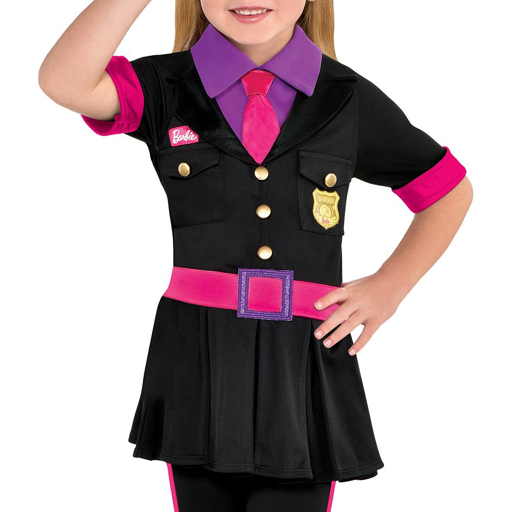 Girls Police Officer Barbie Costume Image #2