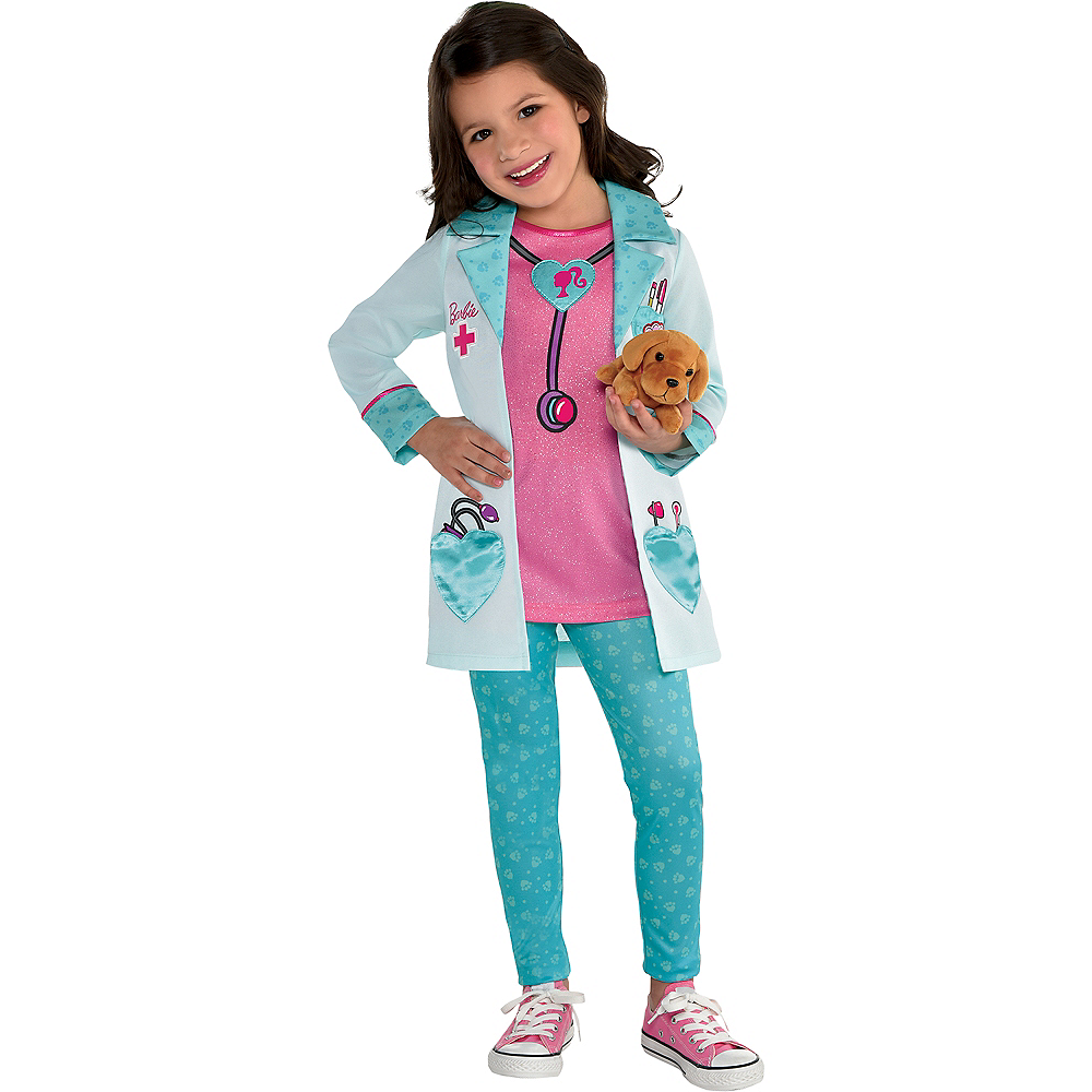 Girls Pet Vet Barbie Costume Image #1