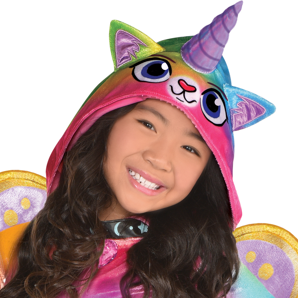 Nav Item for Girls Felicity Costume - Rainbow Kitty Unicorn Image #2