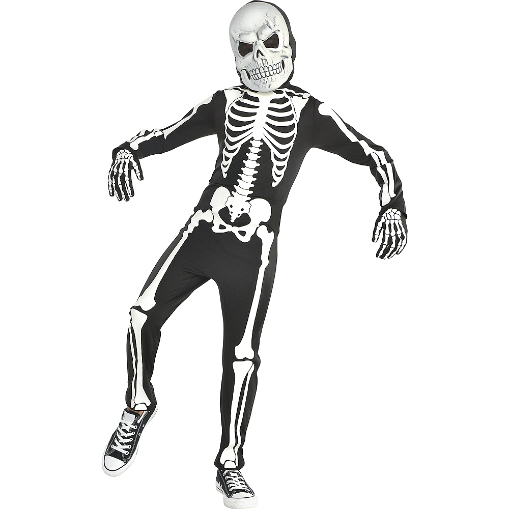 Nav Item for Boys Glow-in-the-Dark X-ray Skeleton Costume Image #1
