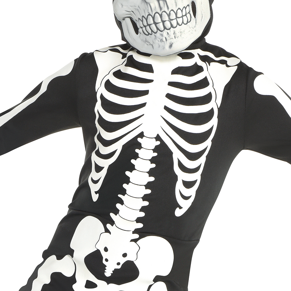 Boys Glow-in-the-Dark X-ray Skeleton Costume Image #3