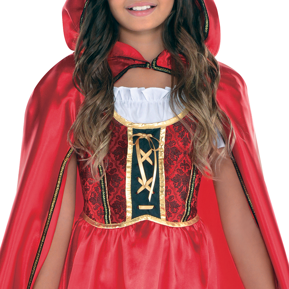 Girls Fairytale Red Riding Hood Costume Image #3