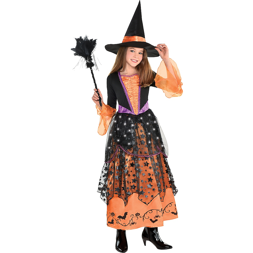 Girls Light-Up Magical Witch Costume Image #1