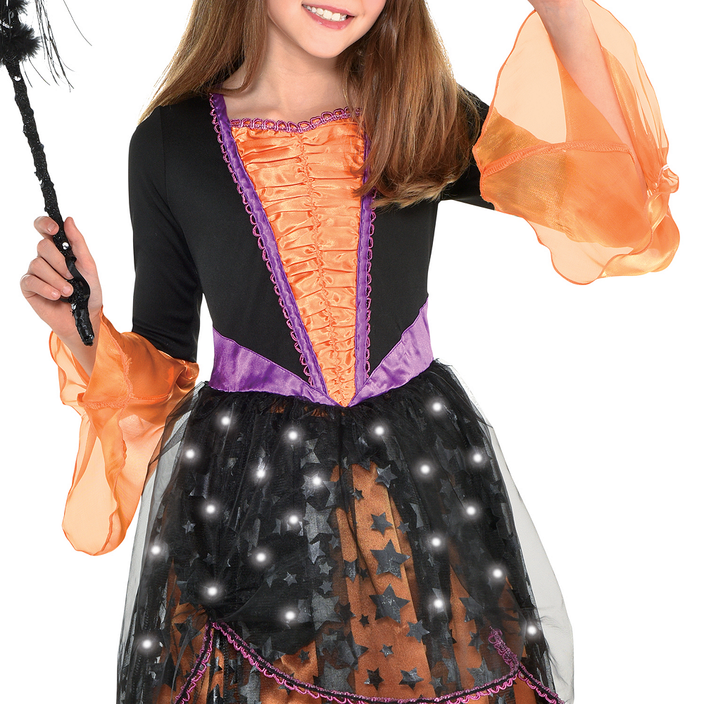 Girls Light-Up Magical Witch Costume Image #3