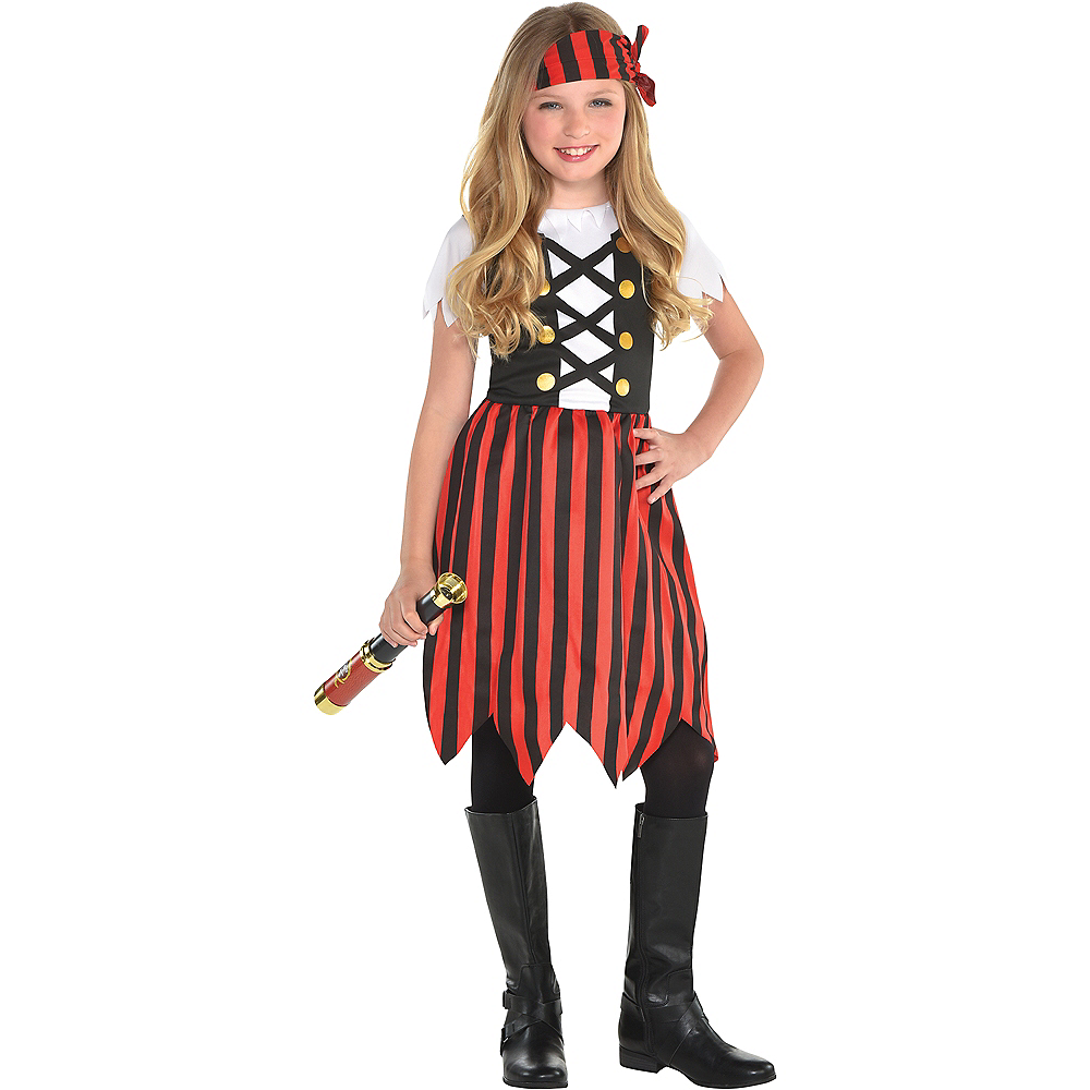 Nav Item for Girls Shipmate Cutie Pirate Costume Image #1