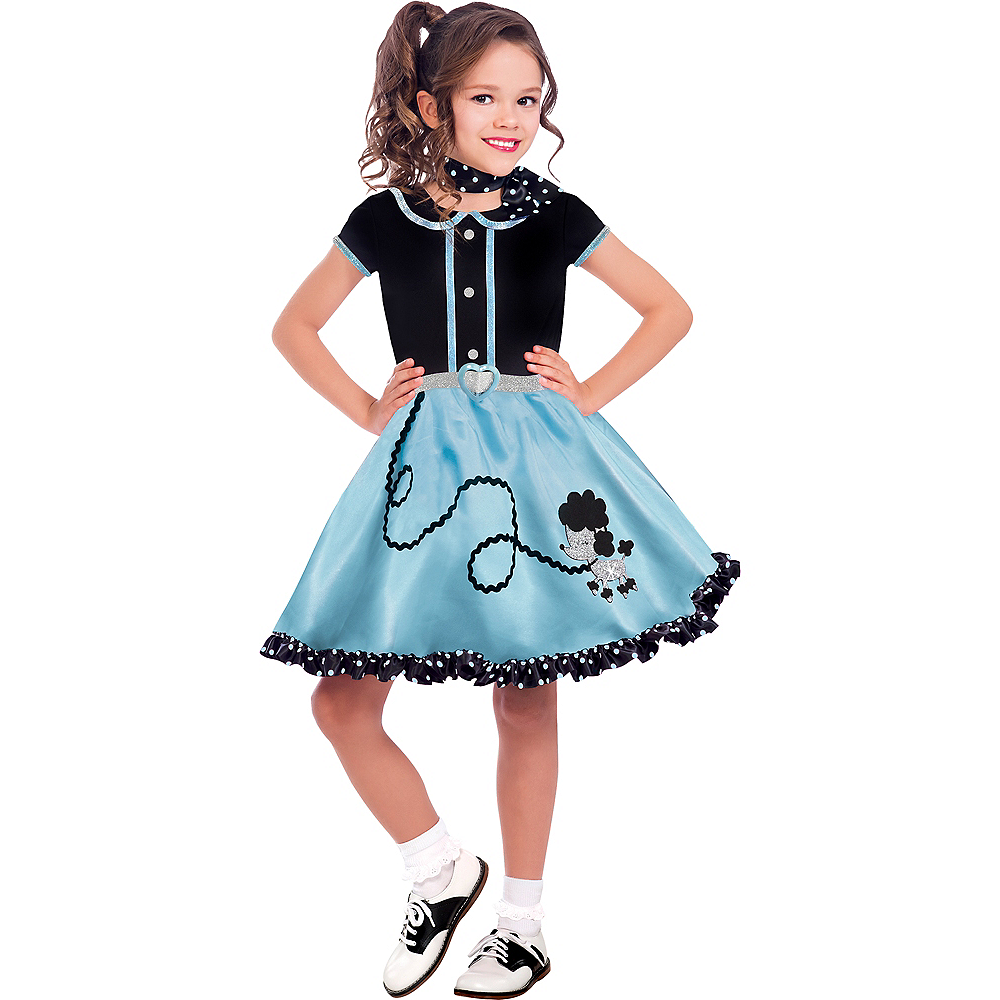 Girls At The Hop Poodle Skirt Costume Image #1