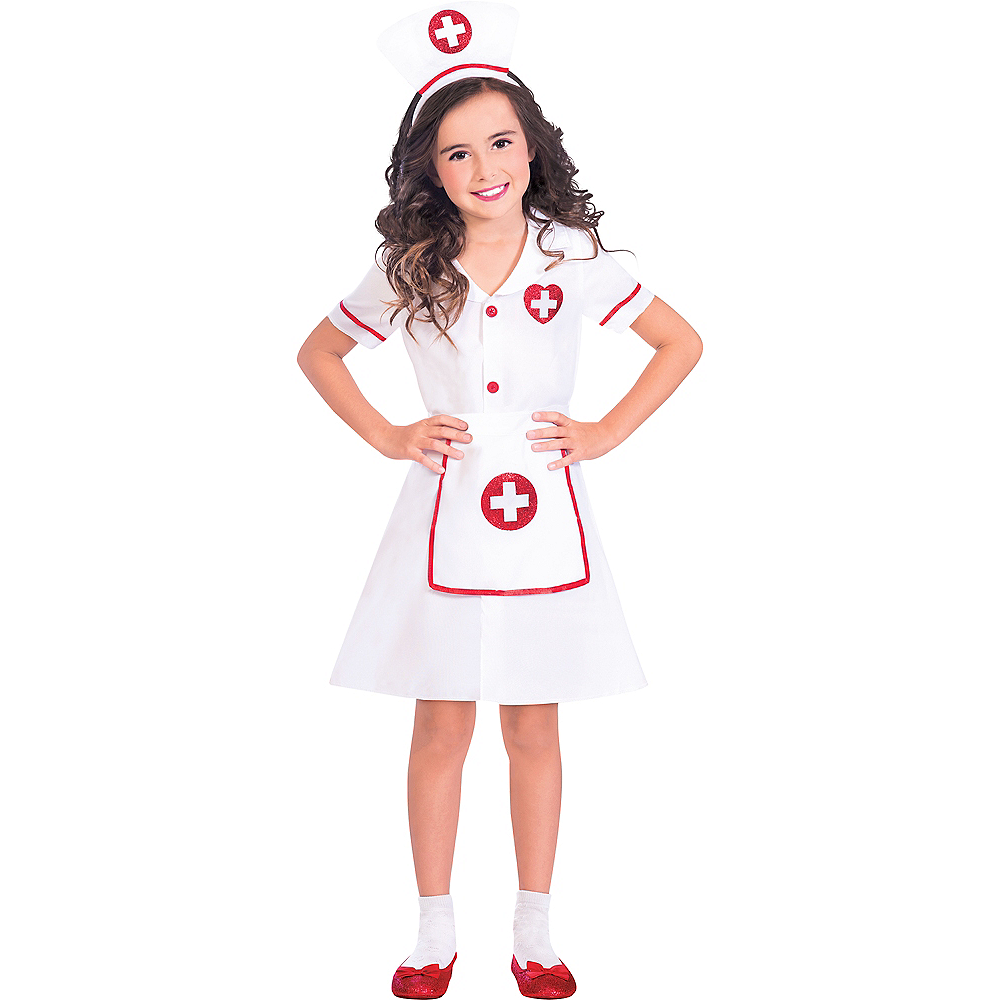 Girls Darling Nurse Costume Image #1