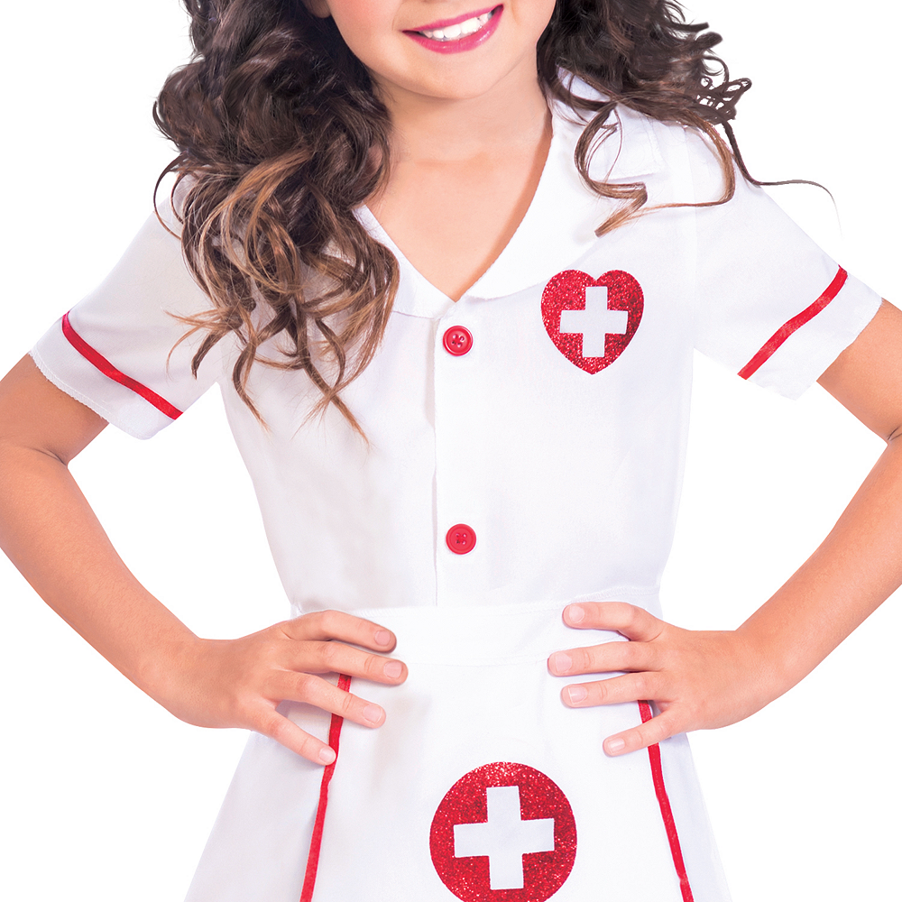 Girls Darling Nurse Costume Image #3