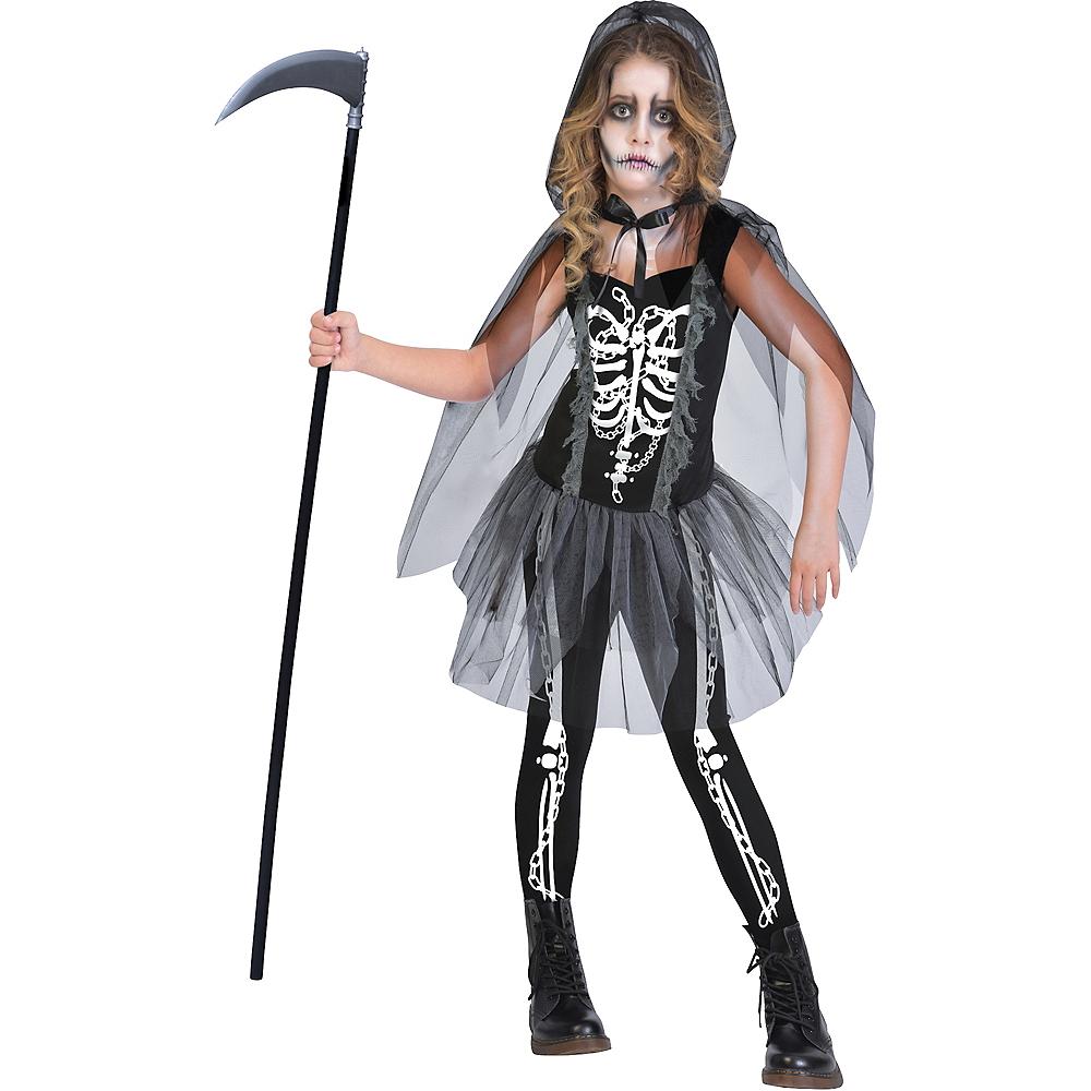 Girls Grim Reaper Costume Image #1