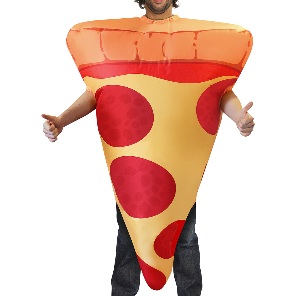 Adult Inflatable Pizza Costume Image #2