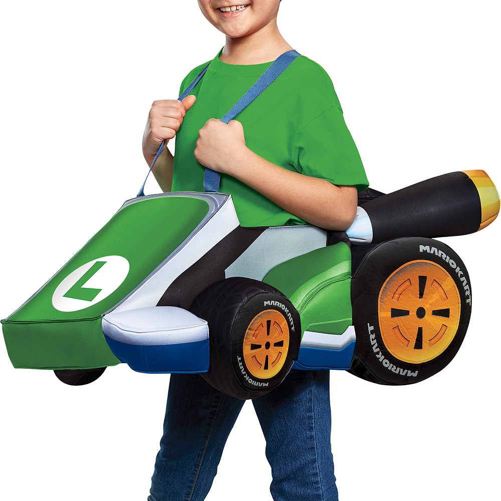 Child Luigi Kart Ride-On Costume Image #2