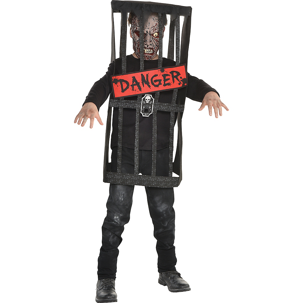 Boys Caged Zombie Costume Image #1