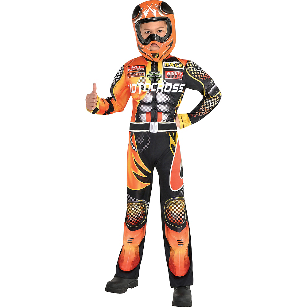 Boys Motocross Driver Costume | Party City