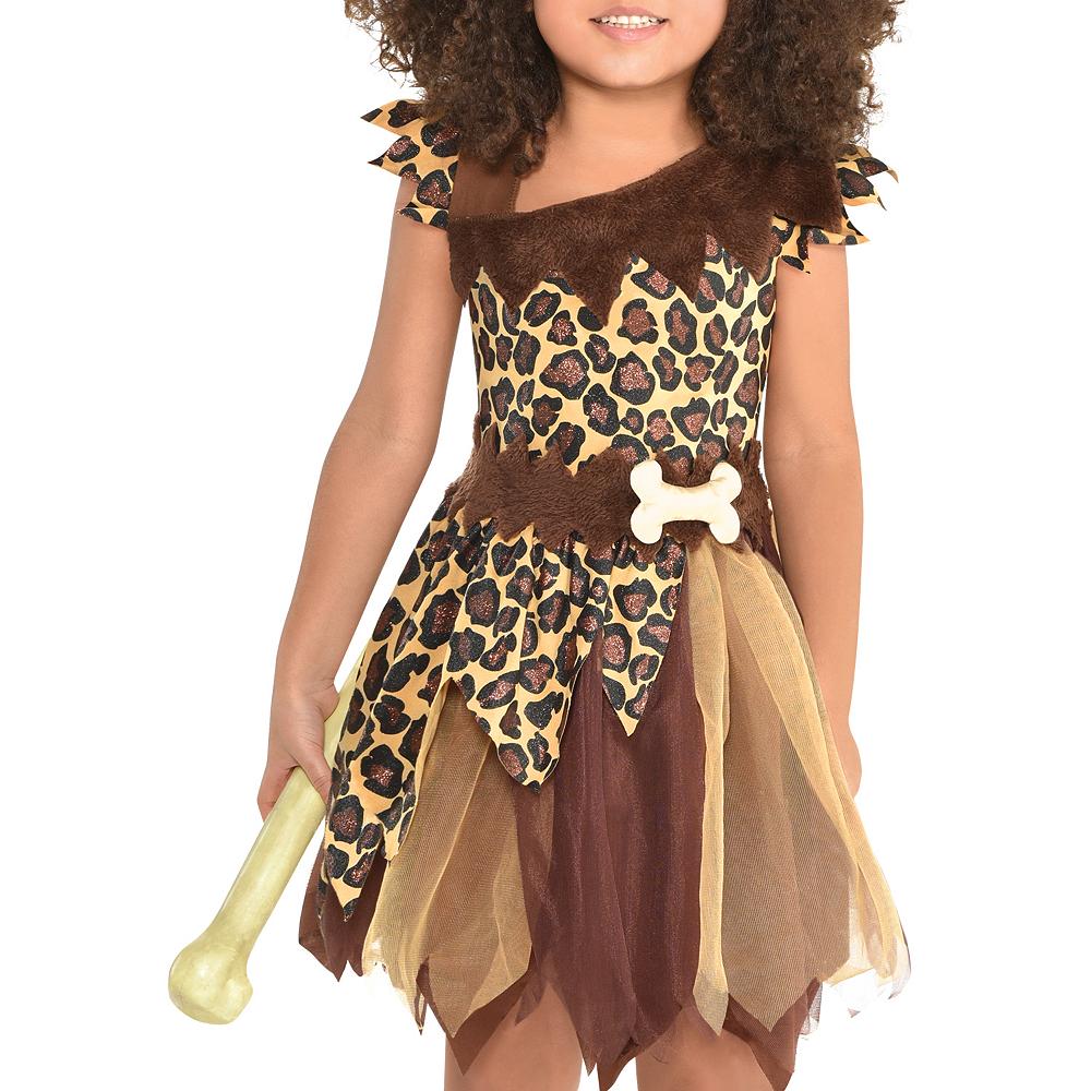 Girls Cavewoman Costume Image #3