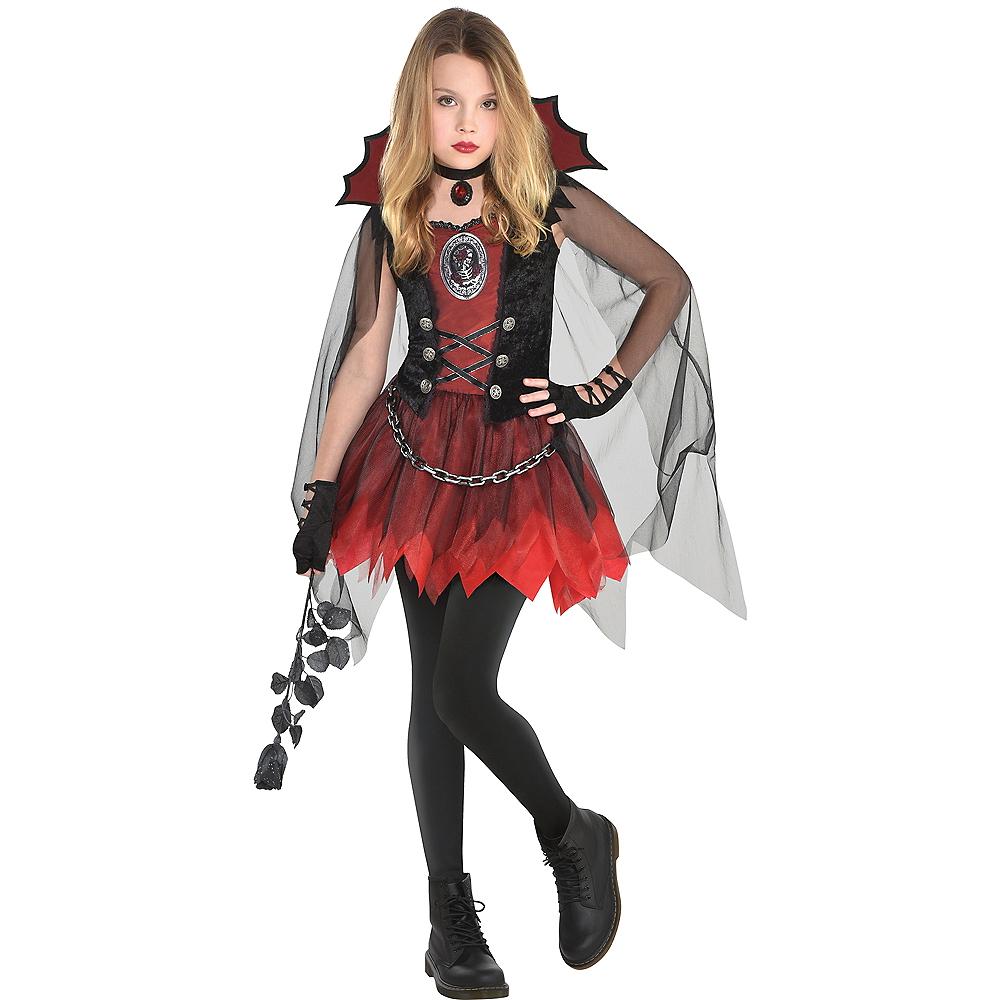 Girls Dark Vampire Costume Image #1