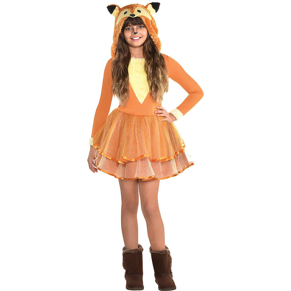 Girls Furry Fox Costume Image #1