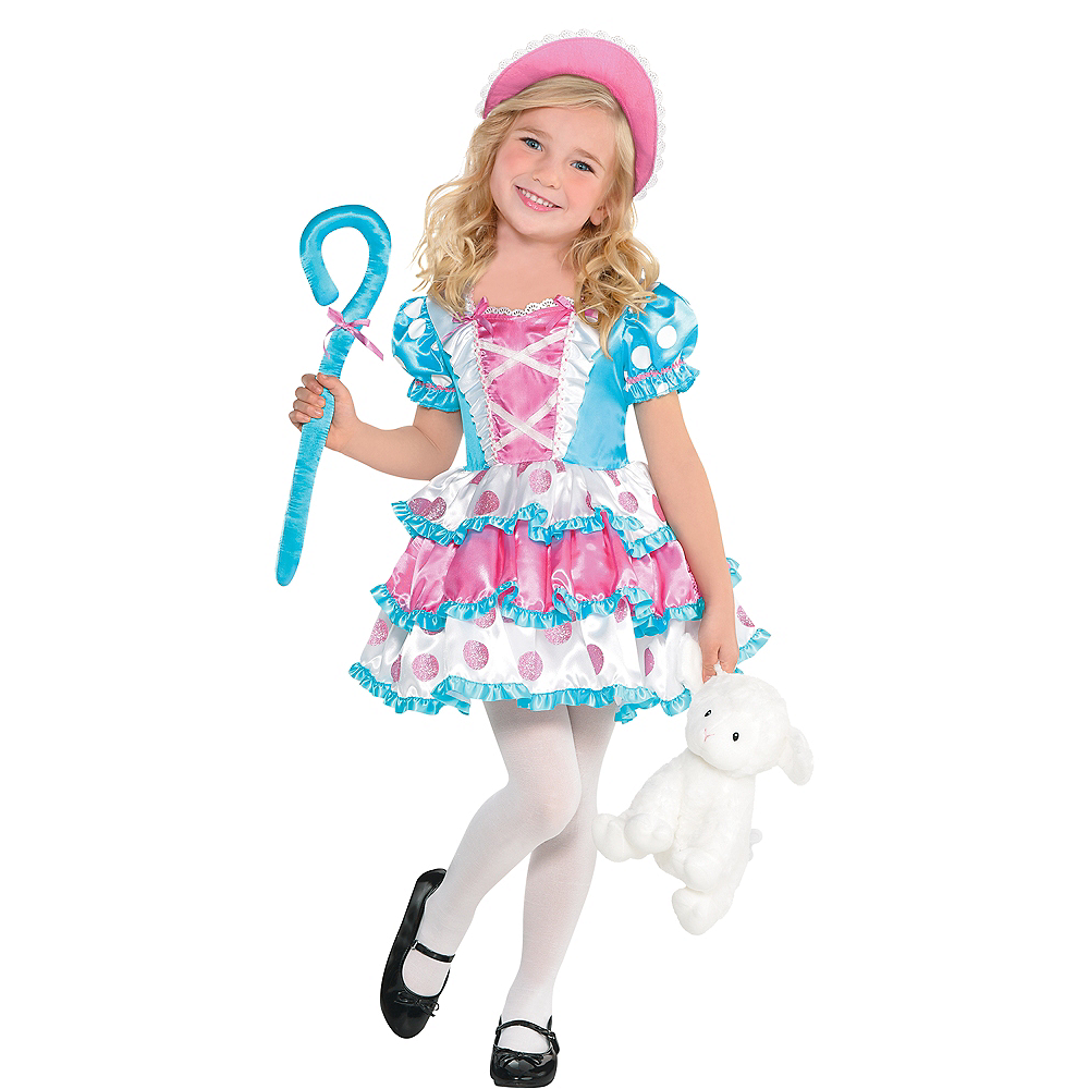 Girls Little Bo Peep Costume Image #1