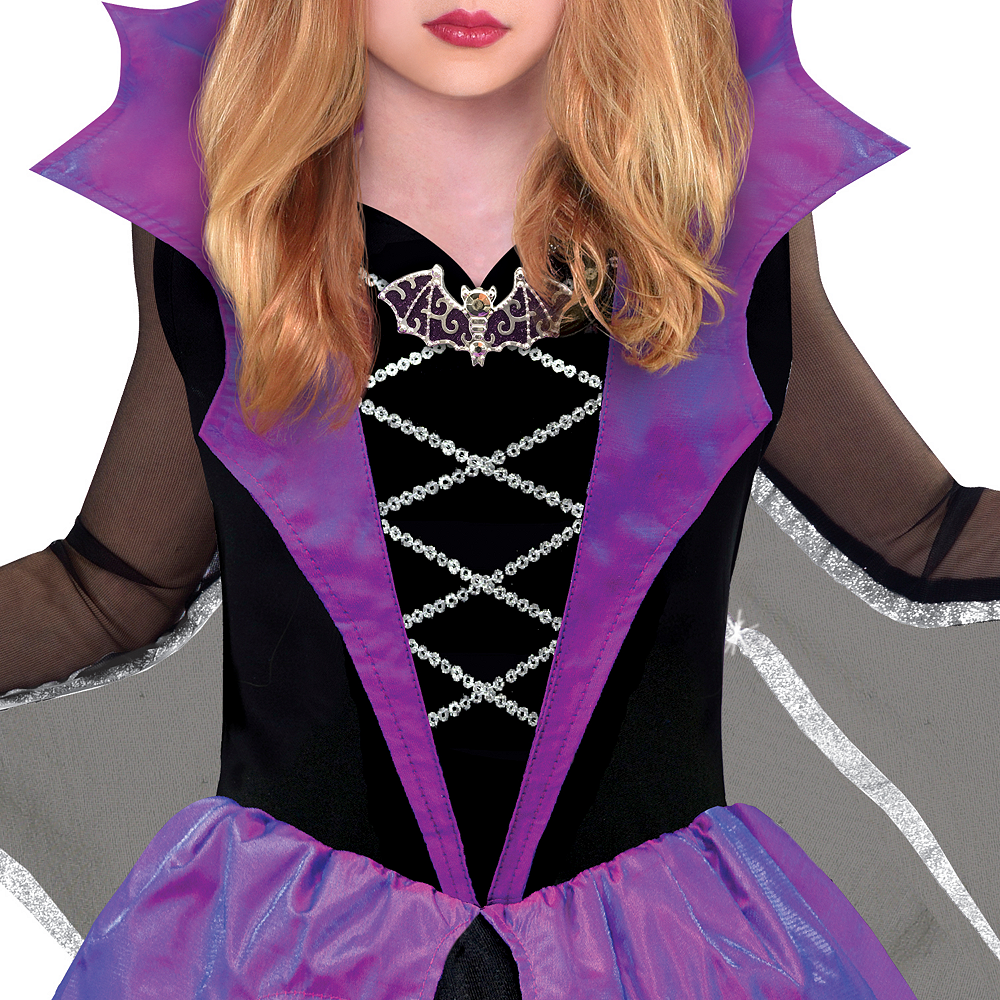 Girls Miss Batiness Vampire Costume Image #3
