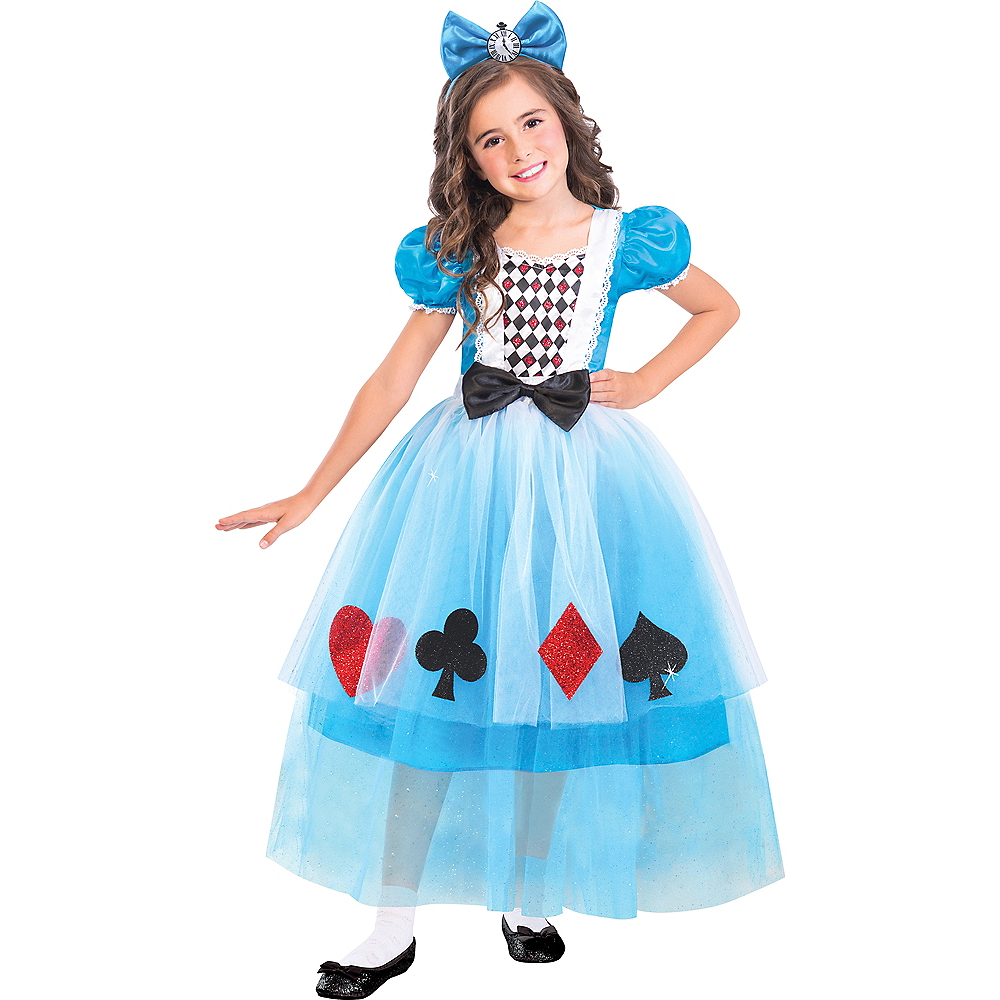 Girls Miss Wonderland Costume Image #1
