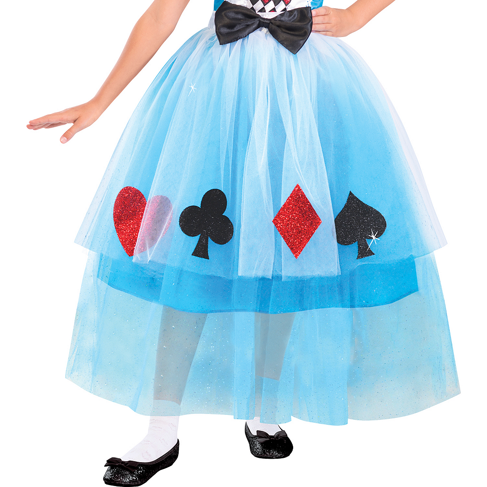 Girls Miss Wonderland Costume Image #4