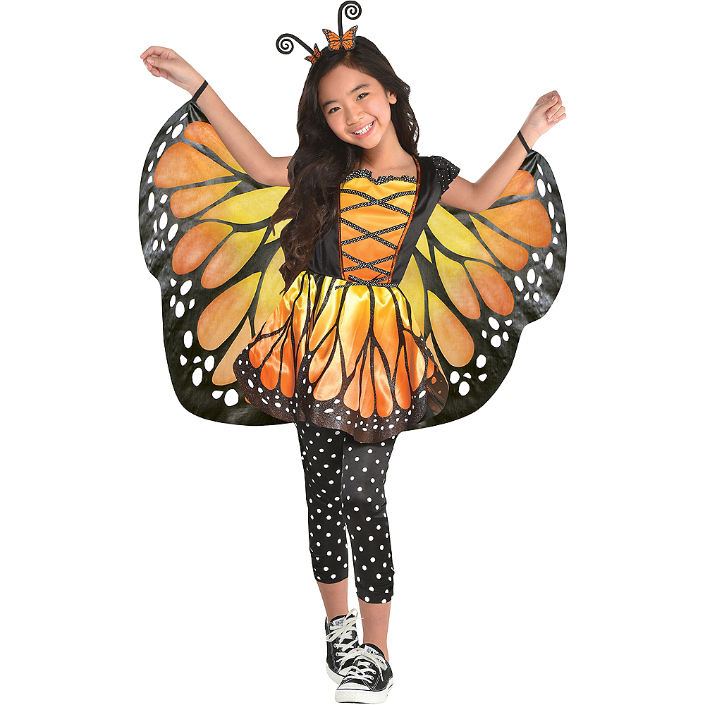 Nav Item for Girls Monarch Butterfly Costume Image #1