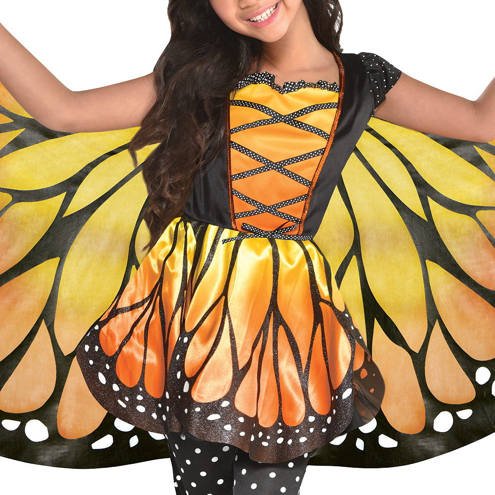 Girls Monarch Butterfly Costume Image #3