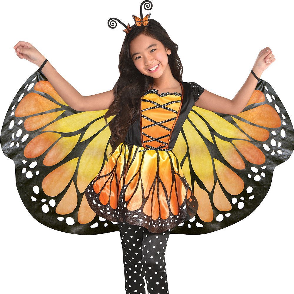 Girls Monarch Butterfly Costume Image #4
