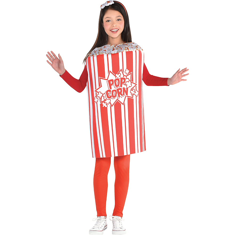 Nav Item for Girls Popcorn Costume Image #1