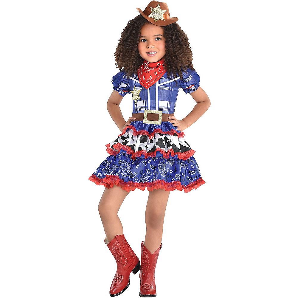 Girls Rodeo Cutie Cowgirl Costume | Party City