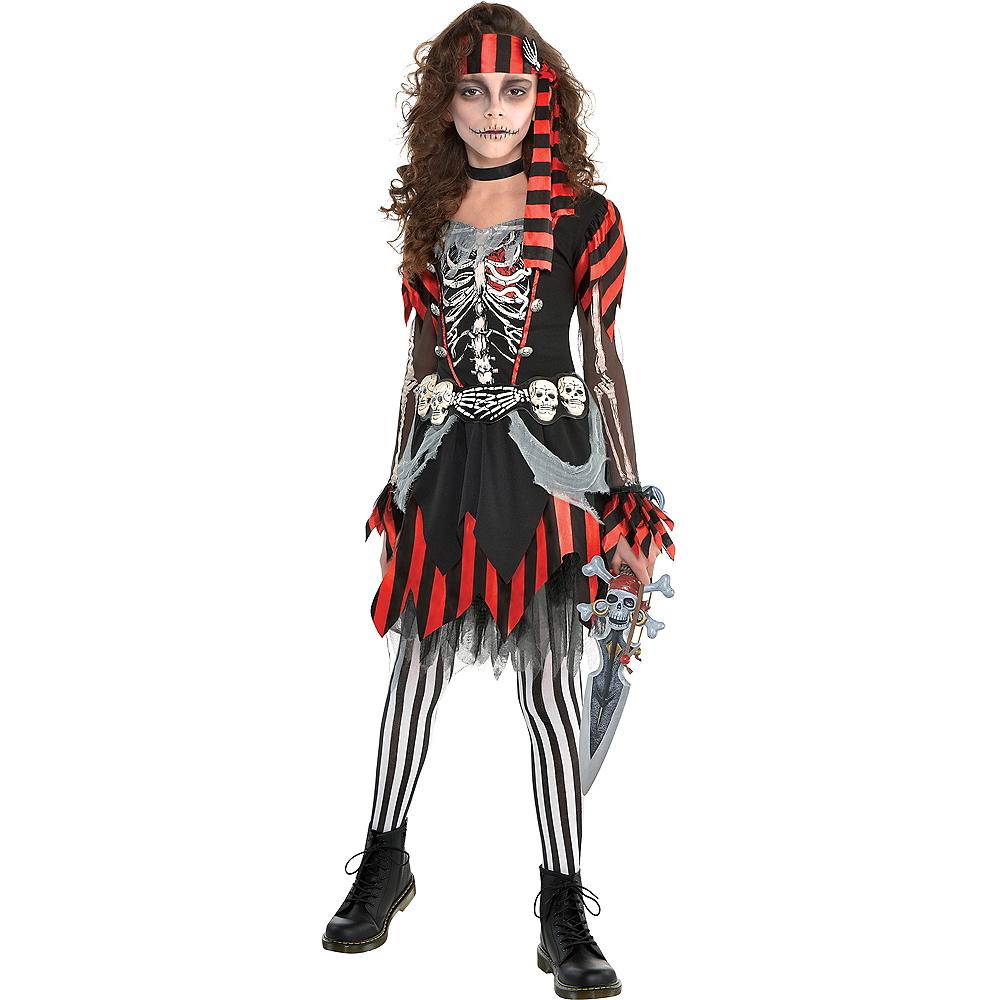 Girls Skele-Punk Pirate Costume Image #1