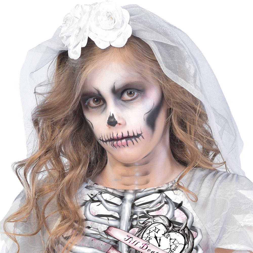 Girls Skeleton Bride Costume Image #2