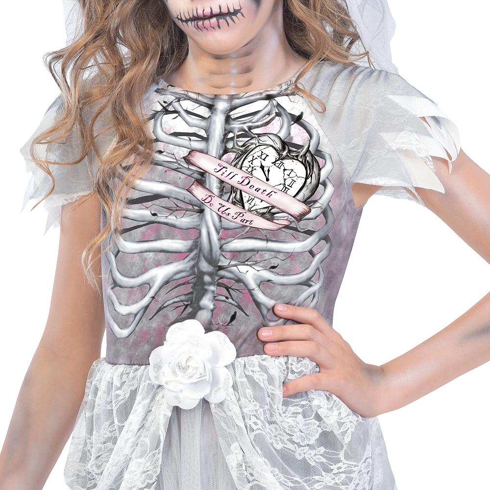 Girls Skeleton Bride Costume Image #3