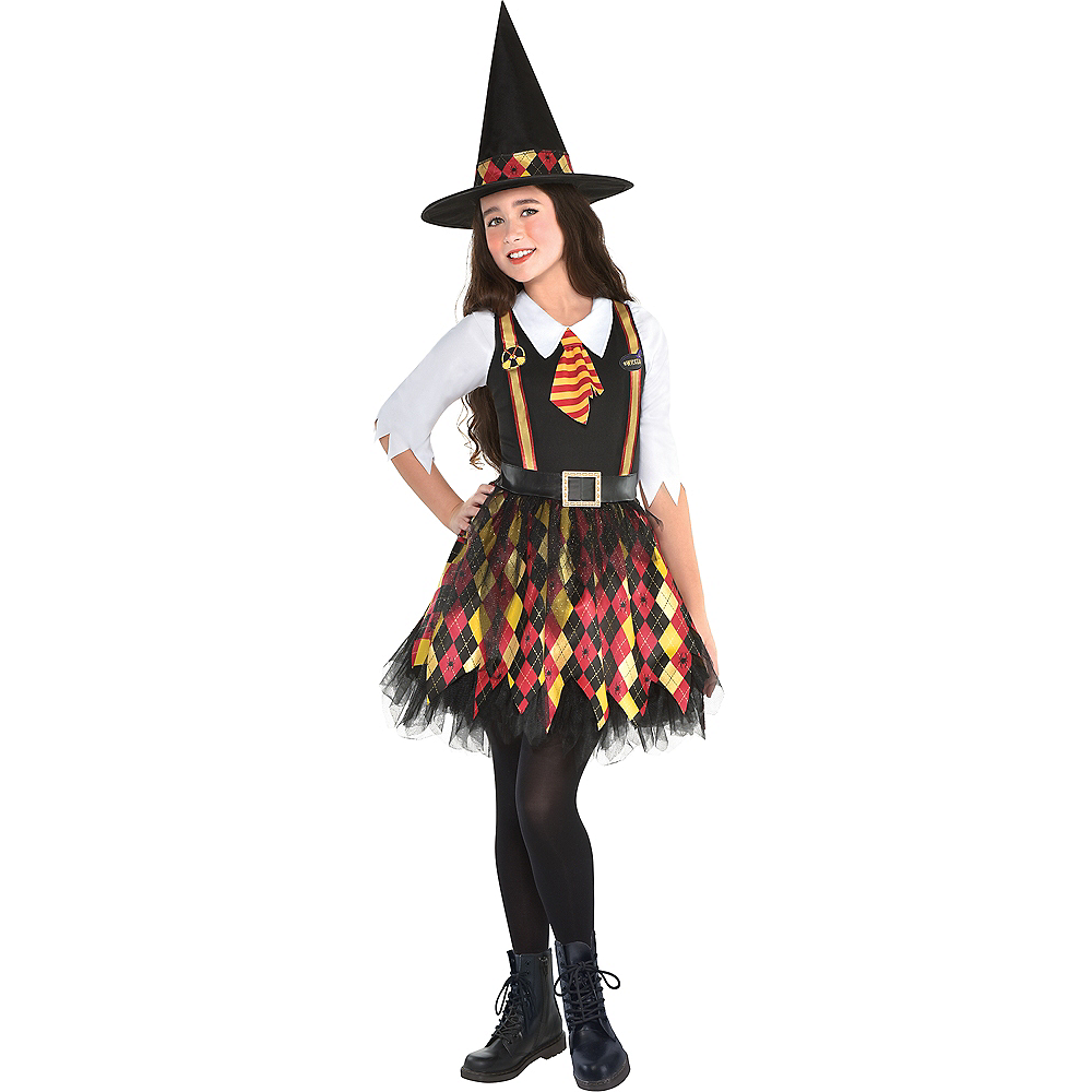 Nav Item for Girls Witchy School Girl Costume Image #1