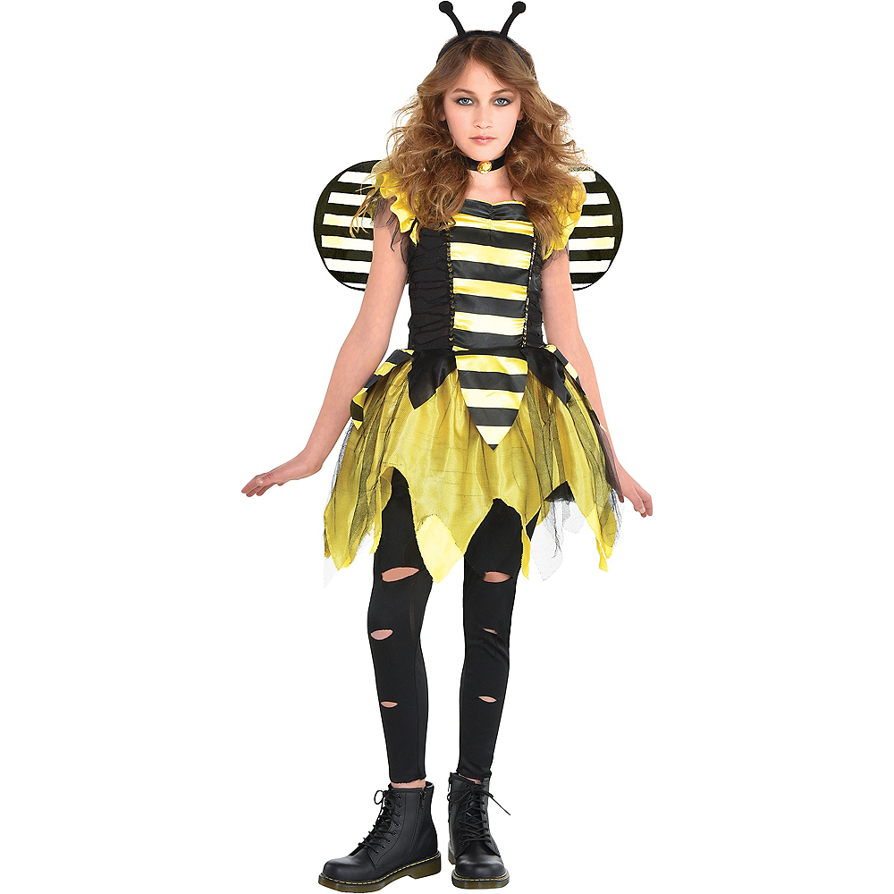 Girls Zom-Bee Costume Image #1