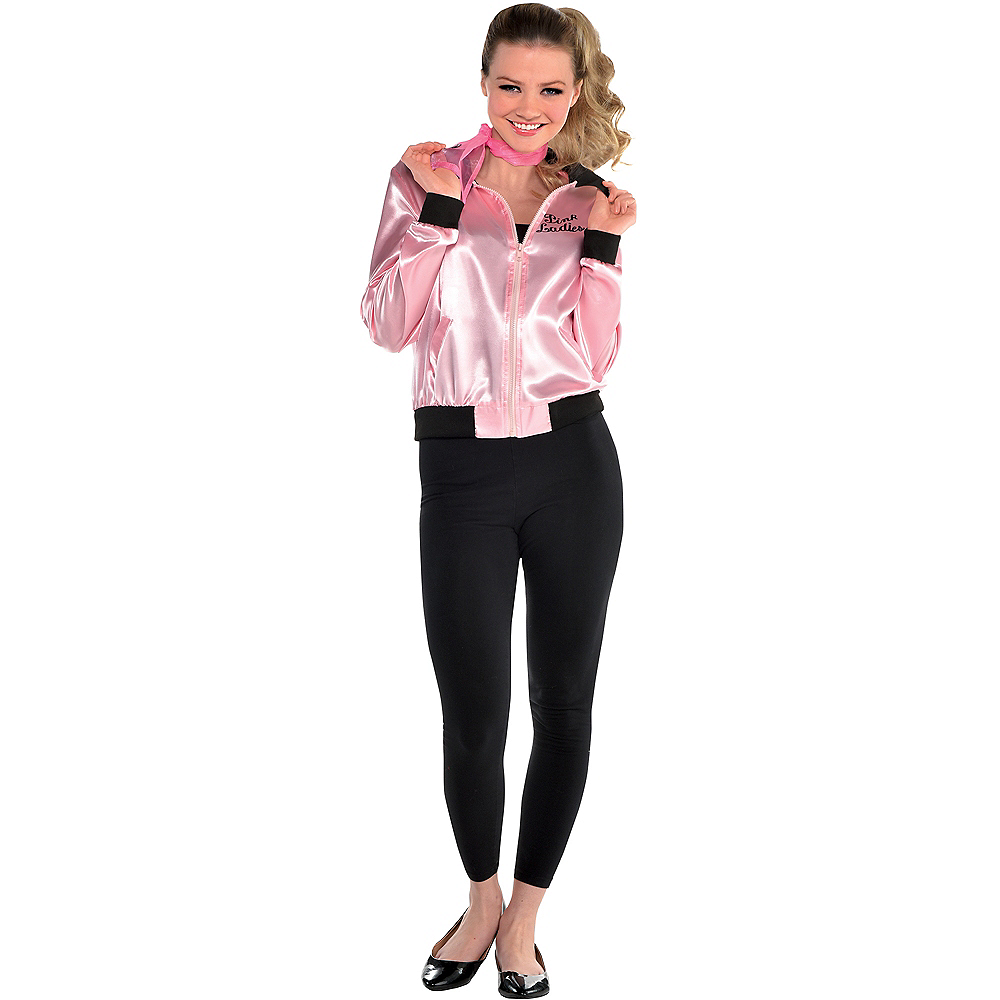 Nav Item for Womens Pink Ladies Jacket - Grease Image #1