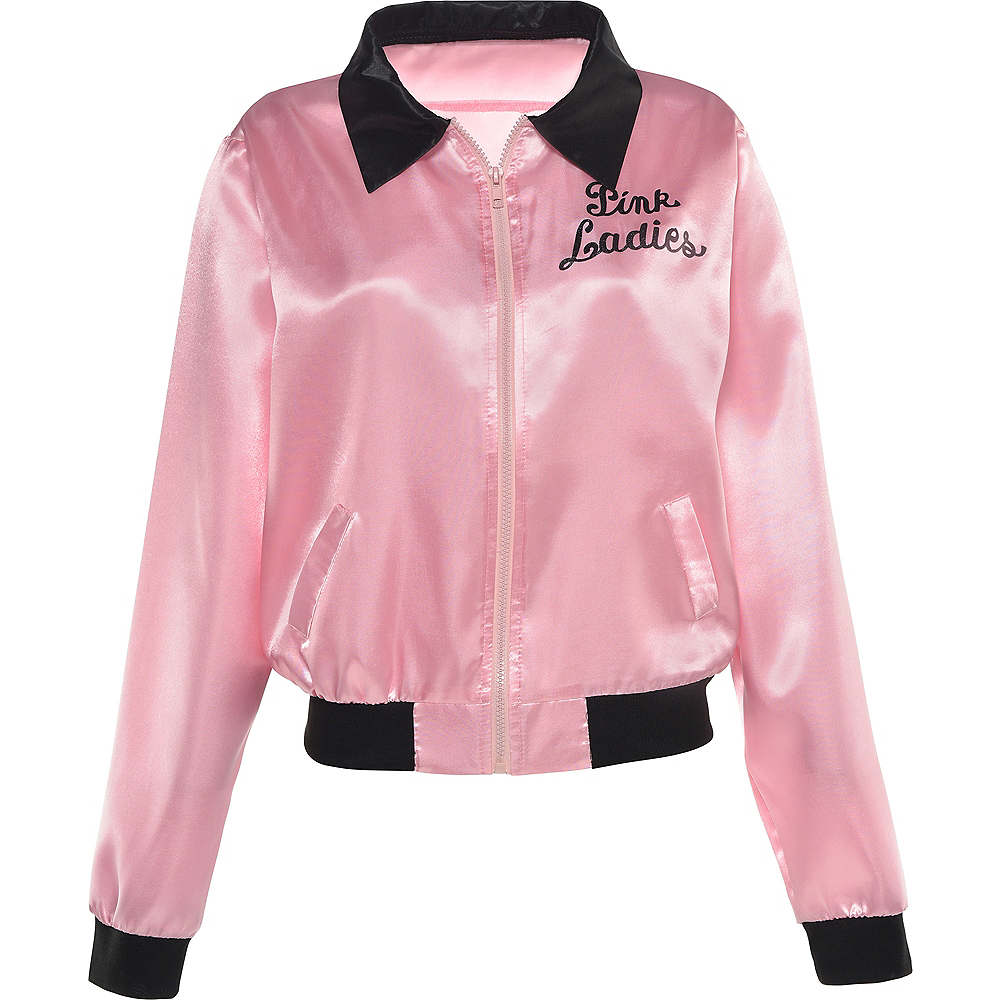 Nav Item for Womens Pink Ladies Jacket - Grease Image #3