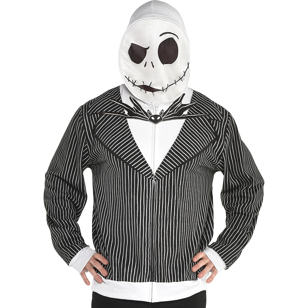 Nav Item for Adult Jack Skellington Hoodie - The Nightmare Before Christmas Image #1