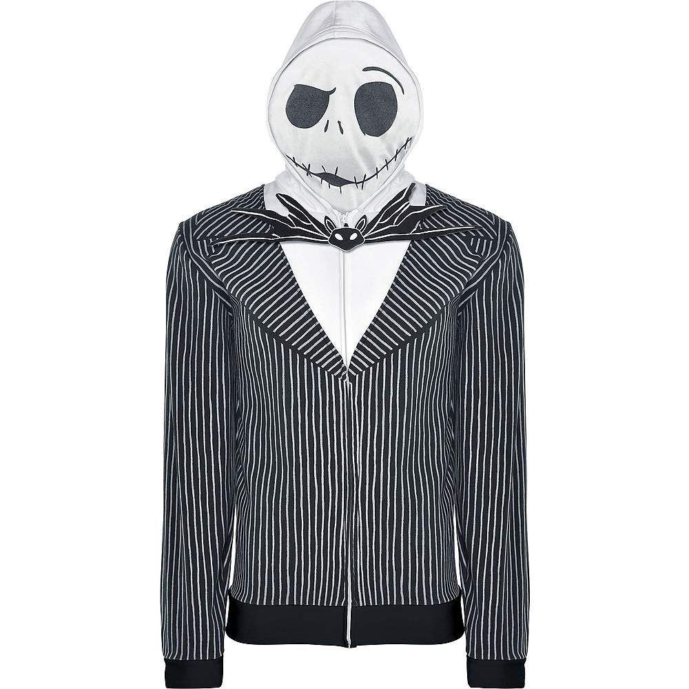 Nav Item for Adult Jack Skellington Hoodie - The Nightmare Before Christmas Image #2