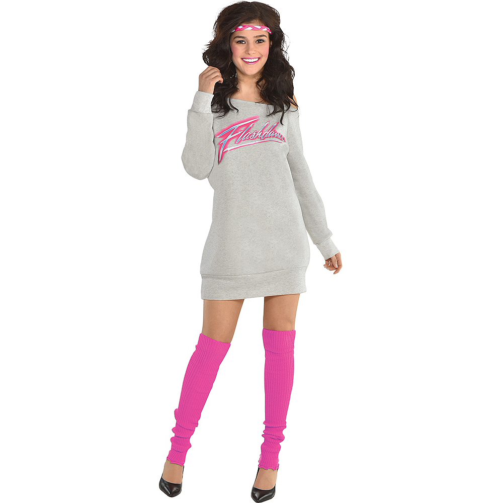Womens Flashdance Costume Accessory Kit Image  1 1a5dbac570