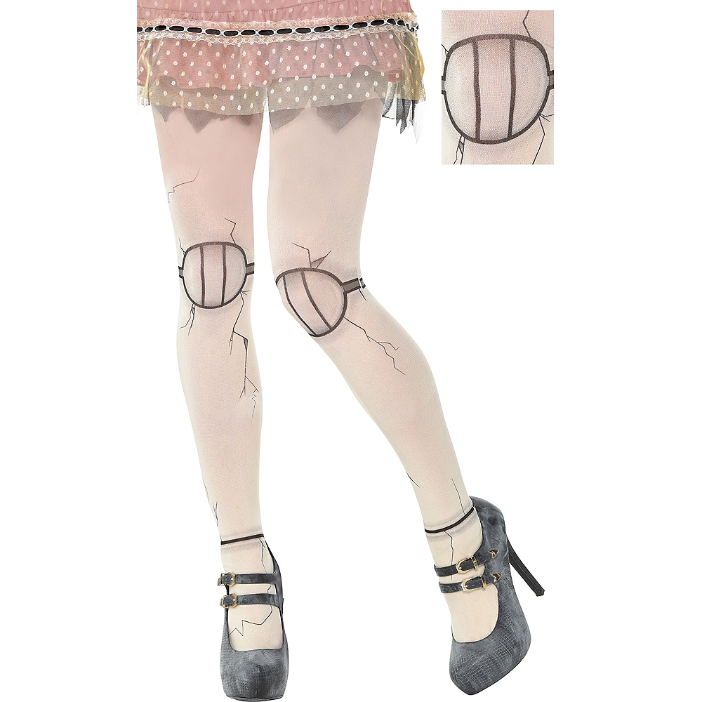 Womens Creepy Doll Tights Image #1