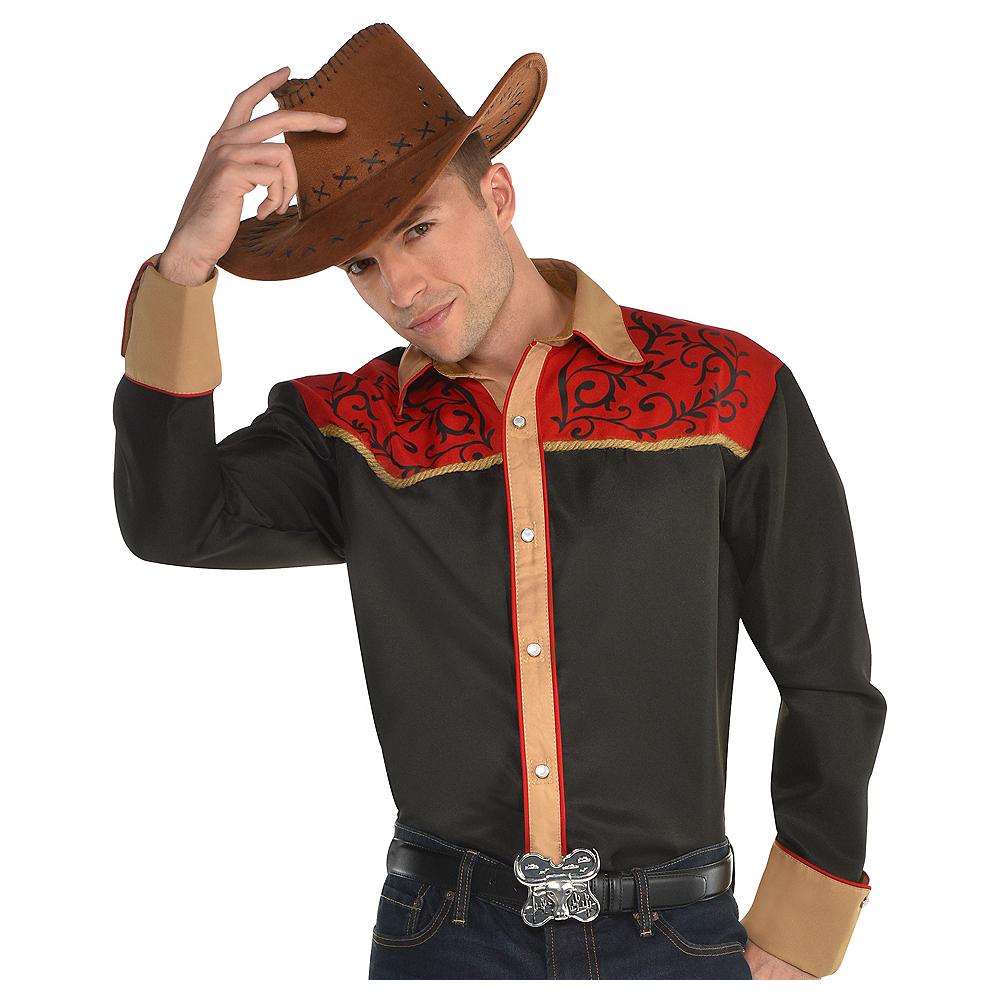 Adult Cowboy Shirt Image #1