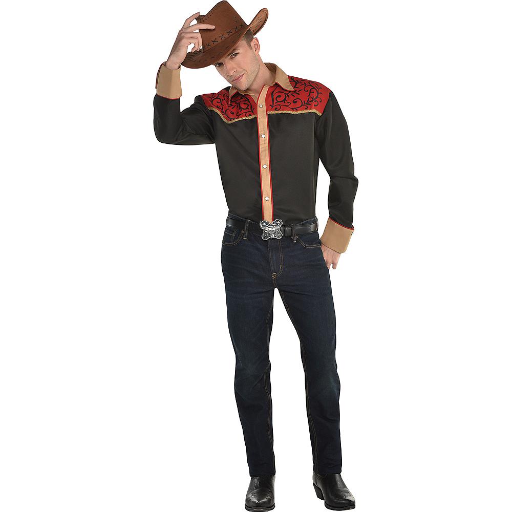 Adult Cowboy Shirt Image #2